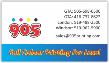 Calgary business card printing full colour business cards 5000 905printing reheart Images